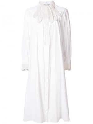 Платье шифт с кружевной отделкой Tsumori Chisato. Цвет: белый