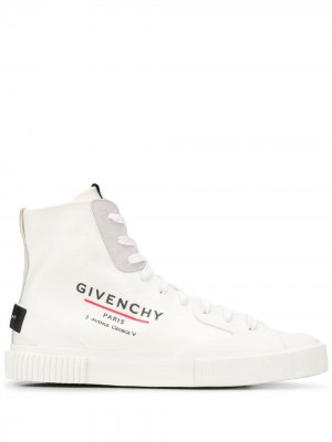 Высокие кеды с логотипом Givenchy. Цвет: белый
