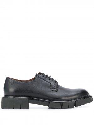 Туфли на шнуровке Fratelli Rossetti. Цвет: черный