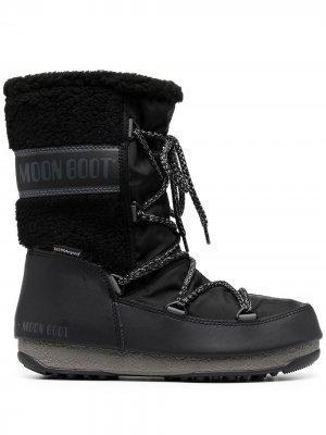 Высокие ботинки Monaco Moon Boot. Цвет: черный
