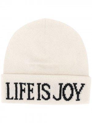 Трикотажная шапка бини Life Is Joy Alberta Ferretti. Цвет: нейтральные цвета