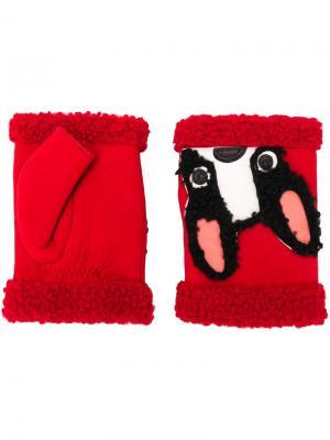 Перчатки Mitaine Dog Agnelle. Цвет: красный