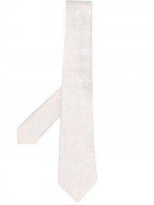 Галстук с вышивкой Tagliatore. Цвет: нейтральные цвета
