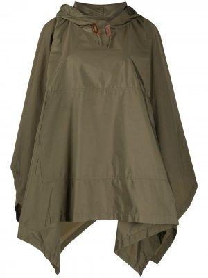 Пальто-кейп Alness с капюшоном Mackintosh. Цвет: зеленый