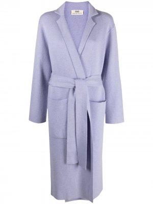 Пальто с поясом Sminfinity. Цвет: фиолетовый