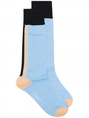 Носки по щиколотку Marni. Цвет: синий