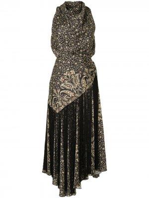 Платье без рукавов с узором пейсли Jonathan Simkhai. Цвет: разноцветный