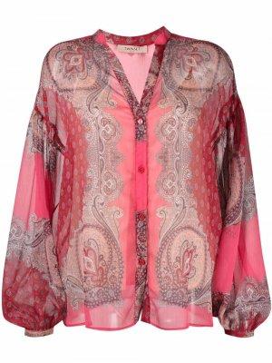 Блузка с узором пейсли TWINSET. Цвет: красный