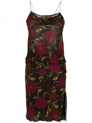 Топ и юбка с цветочным принтом John Galliano Vintage. Цвет: разноцветный