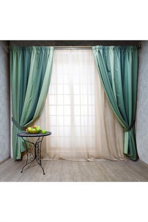 Штора Санрайз, 200х260 Daily by T. Цвет: зеленый