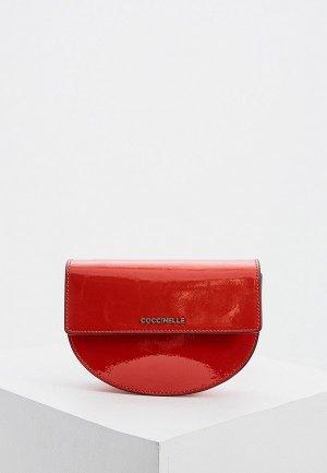 Сумка поясная Coccinelle. Цвет: красный