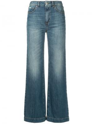 Расклешенные джинсы свободного кроя Alexa Chung. Цвет: синий