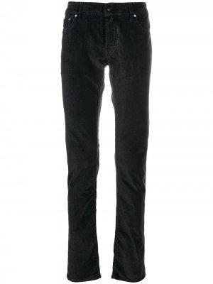 Вельветовые брюки Comfort Fit Jacob Cohen. Цвет: серый