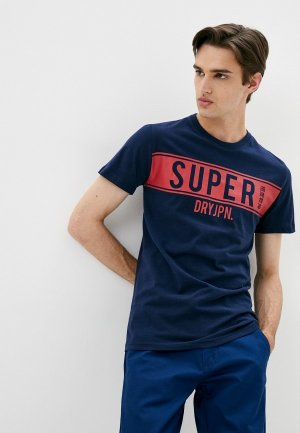 Футболка Superdry. Цвет: синий