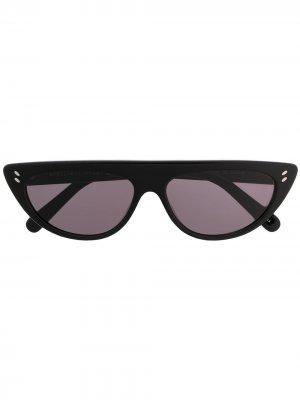 Солнцезащитные очки в оправе кошачий глаз Stella McCartney Eyewear. Цвет: черный