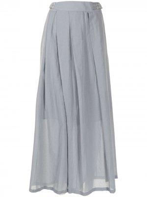 Укороченные брюки широкого кроя Yohji Yamamoto. Цвет: серый