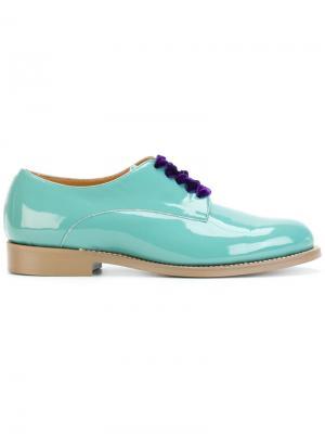 Бархатные ботинки Дерби Undercover. Цвет: синий