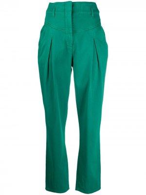 Укороченные брюки с завышенной талией Alberta Ferretti. Цвет: зеленый