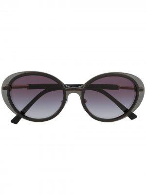 Солнцезащитные очки B.zero1 в овальной оправе Bvlgari. Цвет: черный