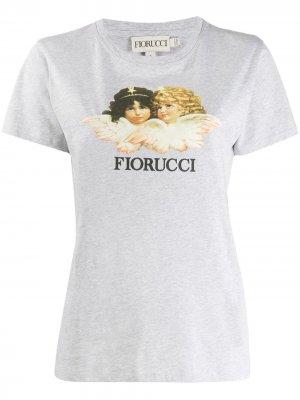 Футболка Vintage Angels Fiorucci. Цвет: серый