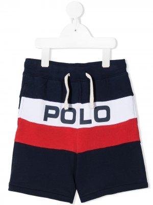 Спортивные шорты с логотипом Ralph Lauren Kids. Цвет: синий