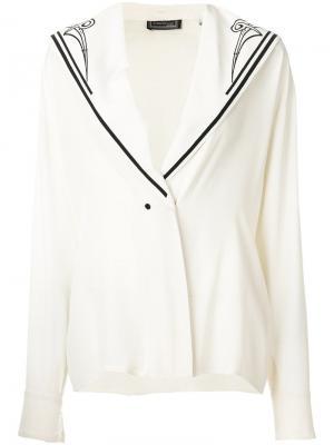 Блузка в морском стиле Versace Vintage. Цвет: нейтральные цвета