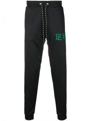 Спортивные брюки с логотипом Dirk Bikkembergs. Цвет: черный