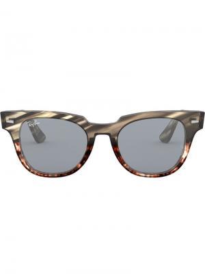 Солнцезащитные очки Meteor Stripped Ray-Ban. Цвет: серый