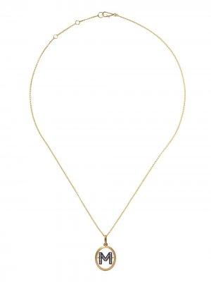 Золотая цепочка с подвеской M Annoushka. Цвет: желтый