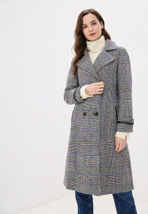 Пальто Rossa. Цвет: серый