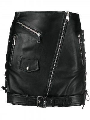 Юбка мини Biker Manokhi. Цвет: черный