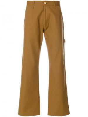 Широкие брюки с большими карманами Junya Watanabe MAN. Цвет: коричневый