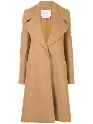 Пальто на пуговицах Carolina Herrera. Цвет: коричневый