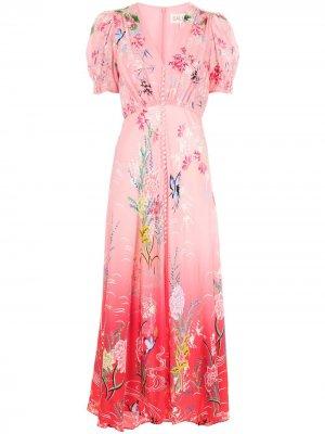 Платье макси Lea Saloni. Цвет: розовый
