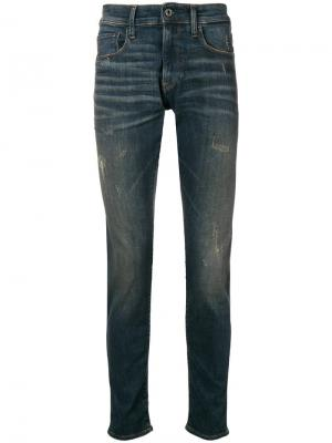 Slim-fit jeans G-Star Raw Research. Цвет: синий