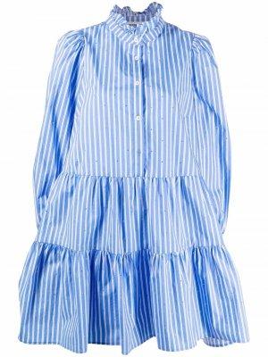 Полосатое платье Zinga Essentiel Antwerp. Цвет: синий