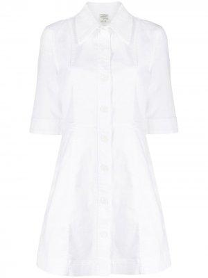 Платье-рубашка с короткими рукавами Baum Und Pferdgarten. Цвет: белый
