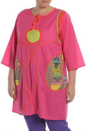 Блуза NATUREL. Цвет: бордовый