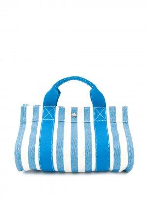 Пляжная сумка Cannes 2000-х годов Hermès. Цвет: синий