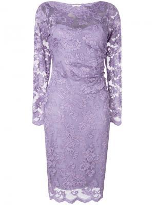 Кружевное приталенное платье Olvi´S. Цвет: розовый