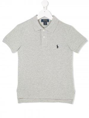 Классическая футболка-поло Ralph Lauren Kids. Цвет: серый