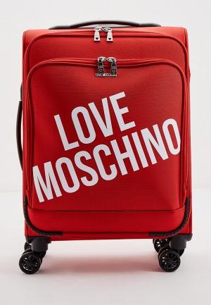 Чемодан Love Moschino. Цвет: красный