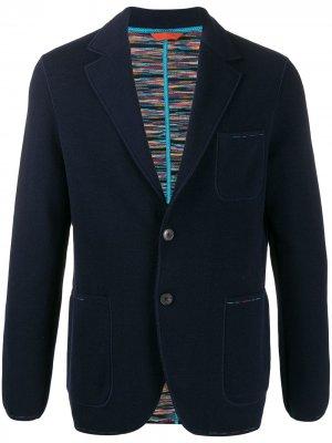 Трикотажный пиджак Missoni. Цвет: синий