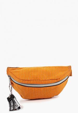 Сумка поясная Tommy Jeans. Цвет: оранжевый