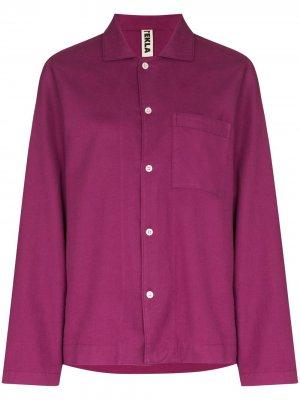 Пижамная рубашка с длинными рукавами TEKLA. Цвет: фиолетовый