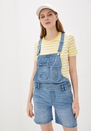 Комбинезон джинсовый Pepe Jeans. Цвет: голубой