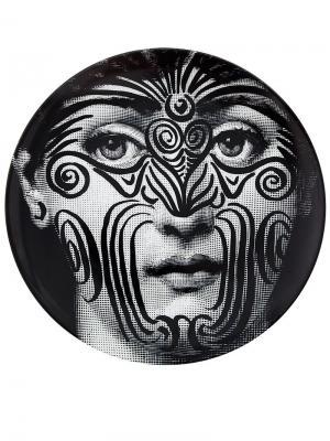 Тарелка Fornasetti. Цвет: черный