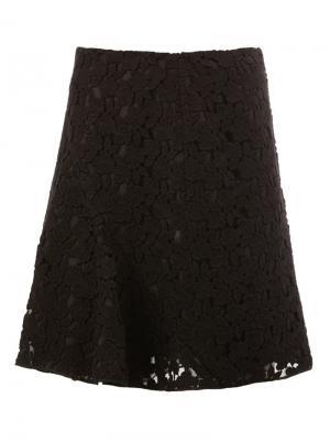 Кружевная юбка со складками Giambattista Valli. Цвет: черный