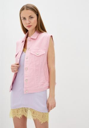 Жилет джинсовый Pepe Jeans. Цвет: розовый