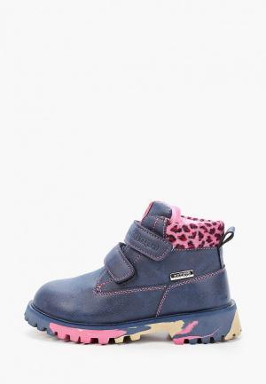 Ботинки Antilopa. Цвет: синий